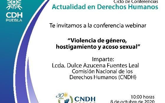 Violencia de género, hostigamiento y acoso sexual